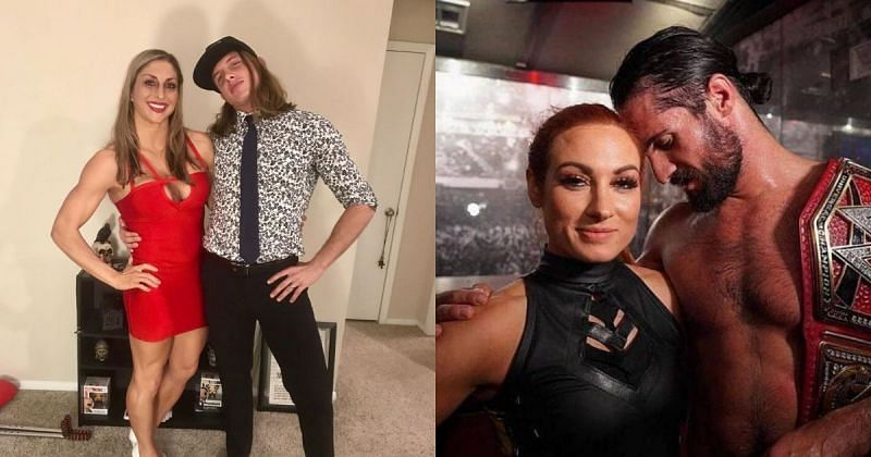 Matt & Lisa Riddle, Becky Lynch, and Seth Rollins.