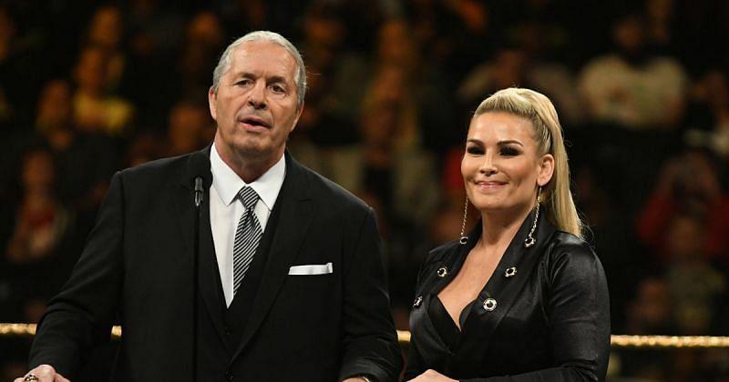 Bret Hart and Natalya.