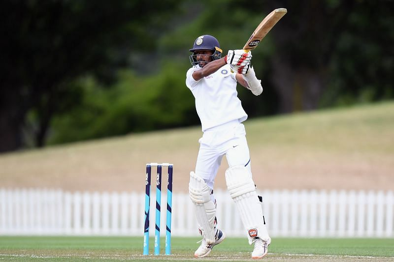 Abhimanyu Easwaran in action for India A.