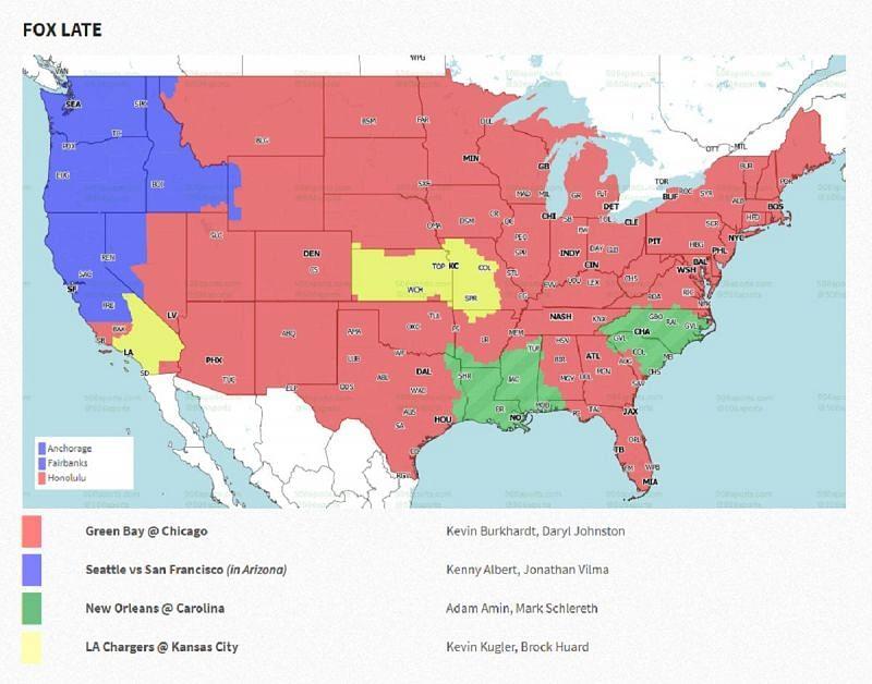 NFL Week 17: coverage map