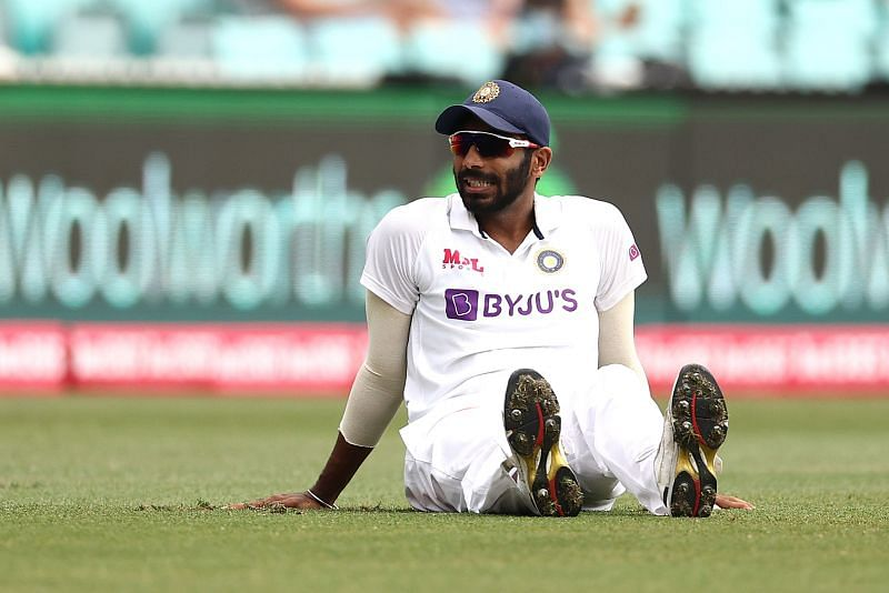 Jasprit Bumrah had an awkward fall while chasing the ball on the field at the SCG.