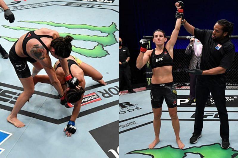 Marina Rodriguez secures TKO win over Amanda Ribas at UFC 257