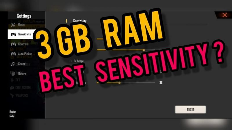 Sensitivity settings play an essential part in games like Free Fire (Image via Sportskeeda)