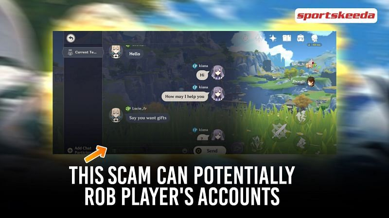 Scammers try to rob player