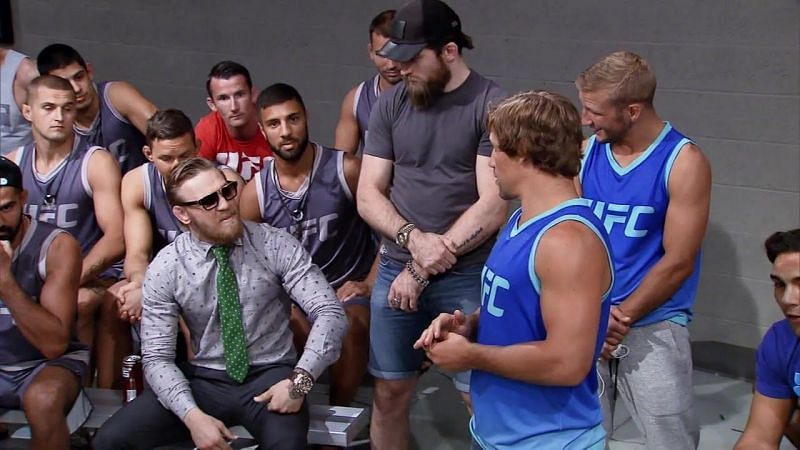Conor McGregor and others at the TUF 22 set