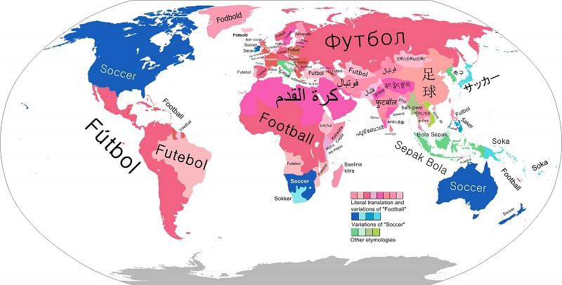 (Image via Redditor u/reddripper) A map showing the names of this particular sport around the world