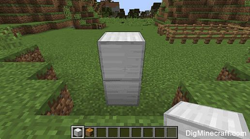 Stack two blocks of Iron atop each other