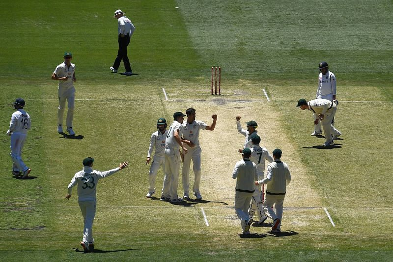 Australia lost the second Test by eight wickets.