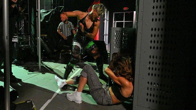 Rhea Ripley stuffed Dakota Kai inside a locker on NXT!