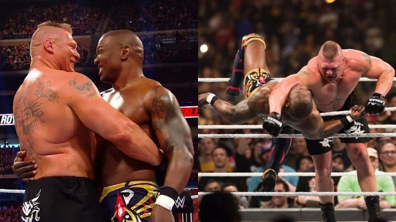 ब्रॉक लैसनर ने Royal Rumble 2020 में शैल्टन बेंजामिन को धोखे से एलिमिनेट किया था।