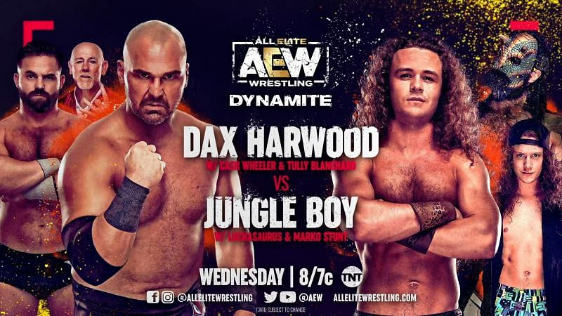 To keep things fair at ringside, a new stipulation has been announced for the Dax Harwood and Jungle Boy match on AEW Dynamite.