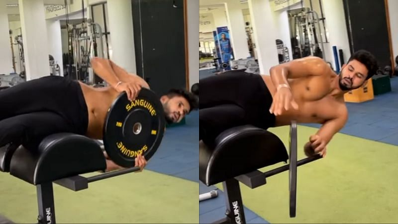 Shreyas Iyer posted a couple of videos from his gym session on social media.