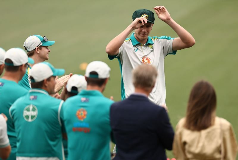 Cameron Green received his first Test cap at the Adelaide Oval