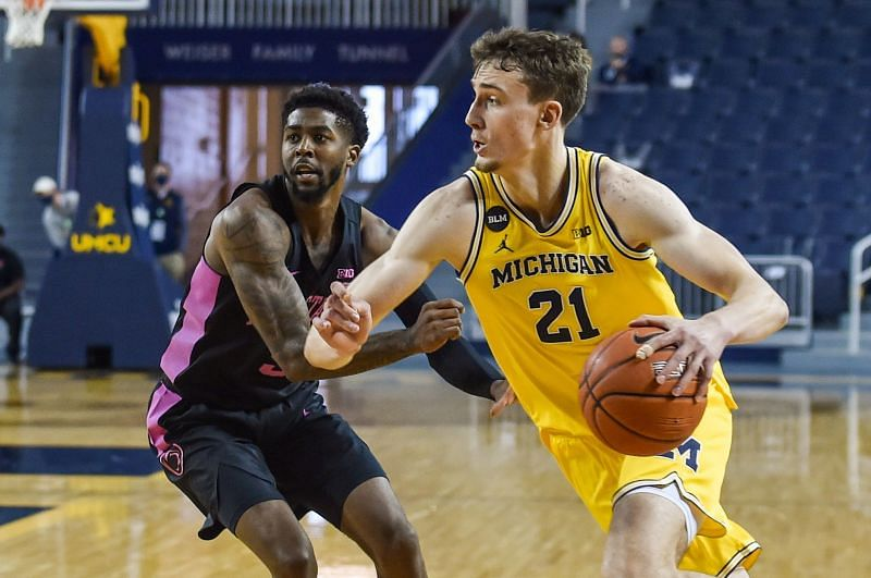 Franz Wagner #21 of the Michigan Wolverines