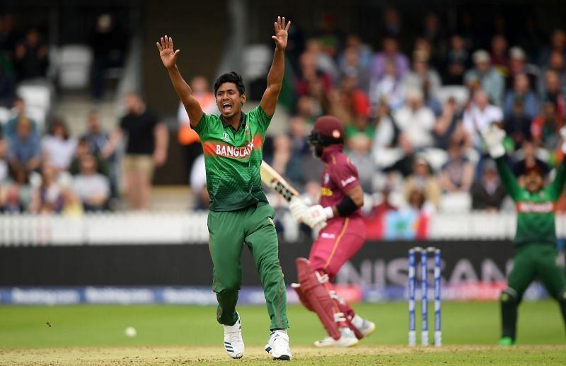 Mustafizur Rahman starred in Bangladesh