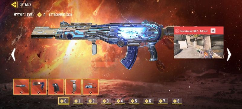 Mythic Peacekeeper MK2 in Call Of Duty Mobile (Image via Activision)