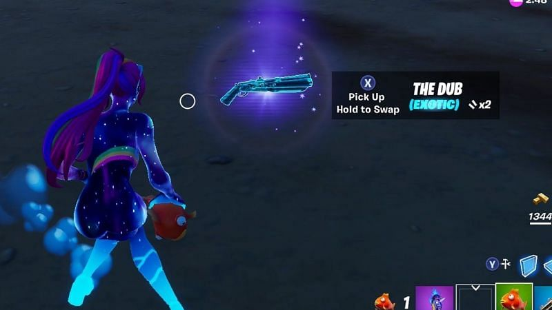 The Dub shotgun can do up to 120 damage per shot. (Image Credits: GuadaFN on YT)