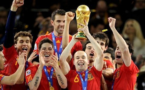 Barcelona legend Andres Iniesta was a World Cup winner with Spain