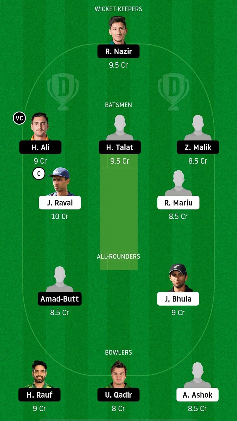 NZ-XI v PK-A Dream11 Fantasy Suggestions