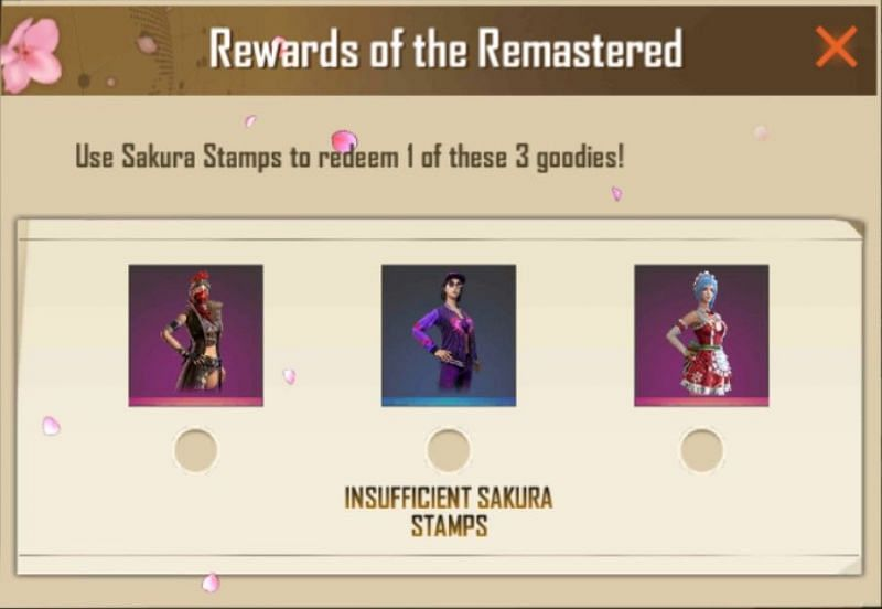 Rewards which can be collected at 120 stamps
