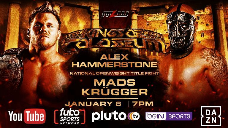 Alexander Hammerstone vs. Mads Krugger is MLW Kings of Colosseum main event