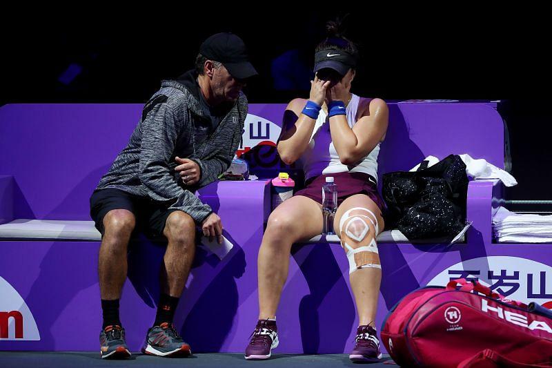 : Bianca Andreescu with her coach Sylvain Bruneau