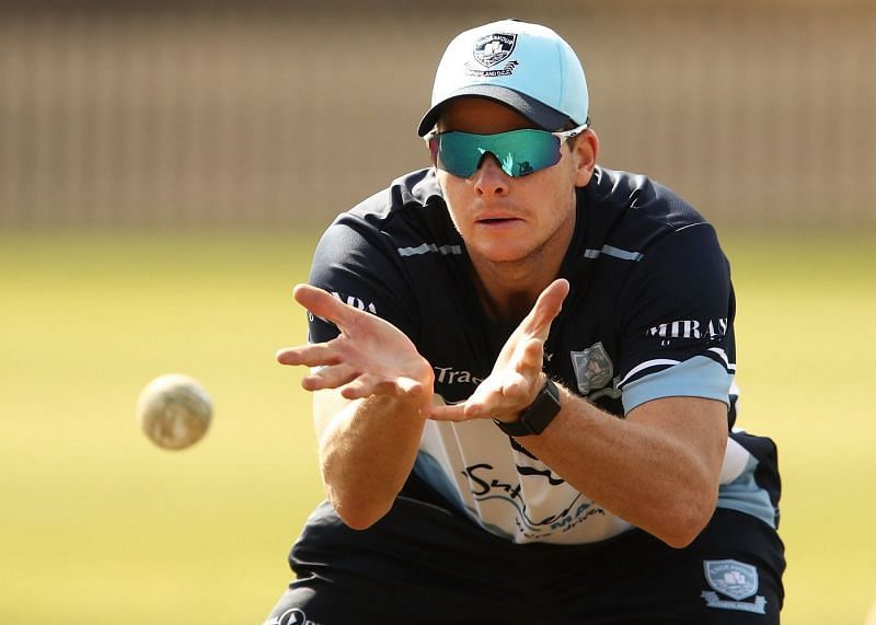 Steve Smith continued to practice at the SCG despite being banned for a year from international cricket.