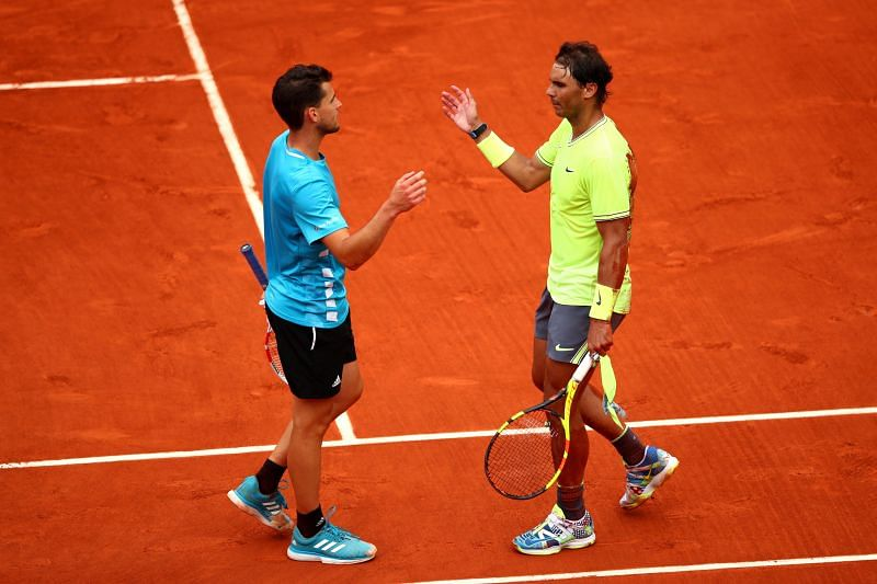 Rafael Nadal after defeating Dominic Thiem at the 2019 French Open