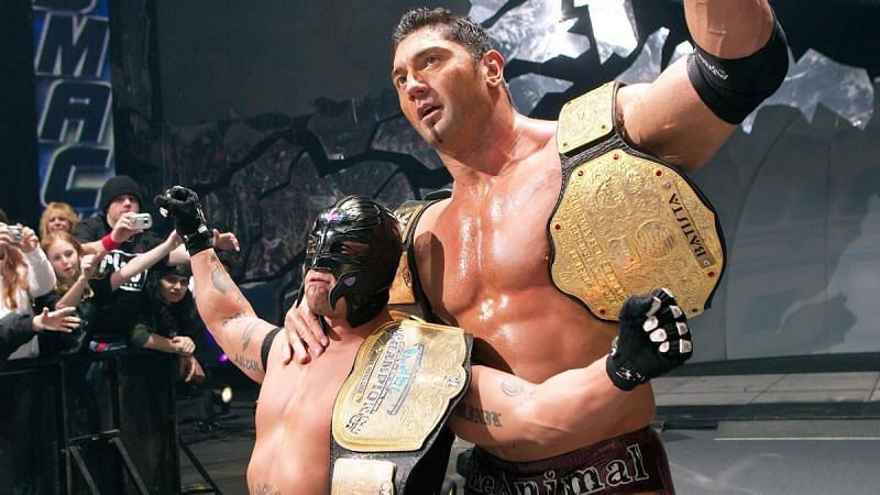 Batista and Rey Mysterio on WWE SmackDown