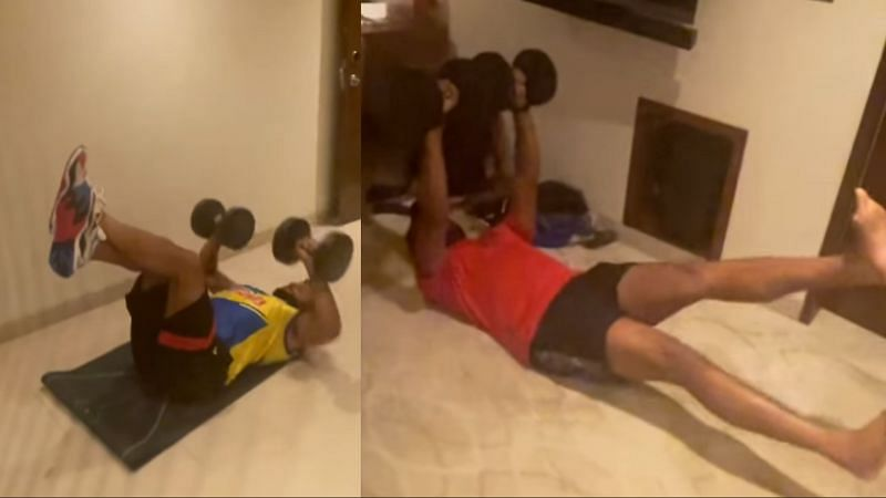 Suresh Raina posted a workout video on Instagram