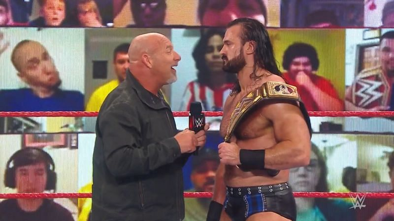 Goldberg and Drew McIntyre closed out WWE RAW Legends Night