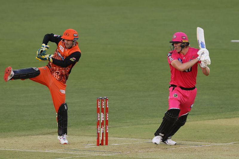 Sydney Sixers in action against Perth Scorchers