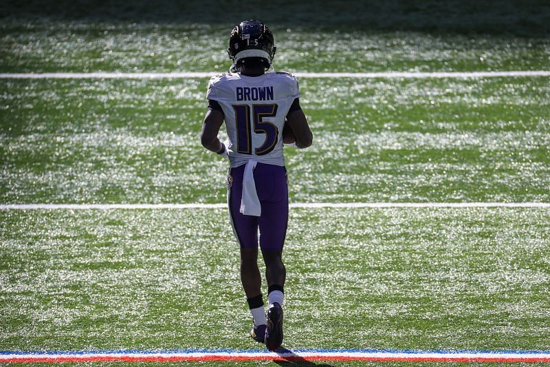 Baltimore Ravens wide receiver Marquise Brown