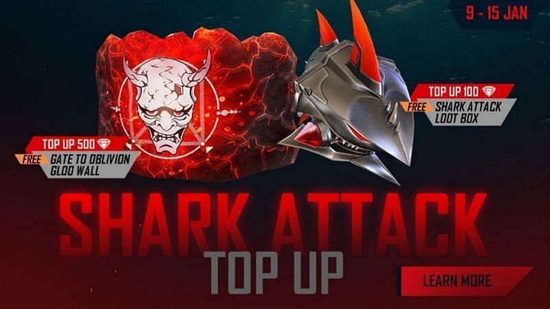 Shark Attack Top Up event in Garena Free Fire