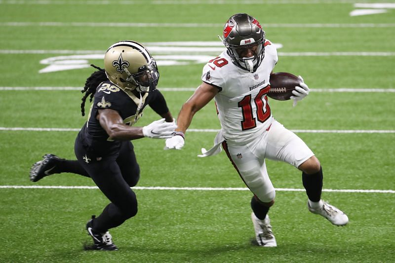 Tampa Bay Buccaneers WR Scott Miller showing off his speed against the New Orleans Saints