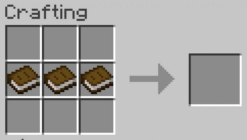 Fill the top and bottom rows of the menu with your chosen wooden planks