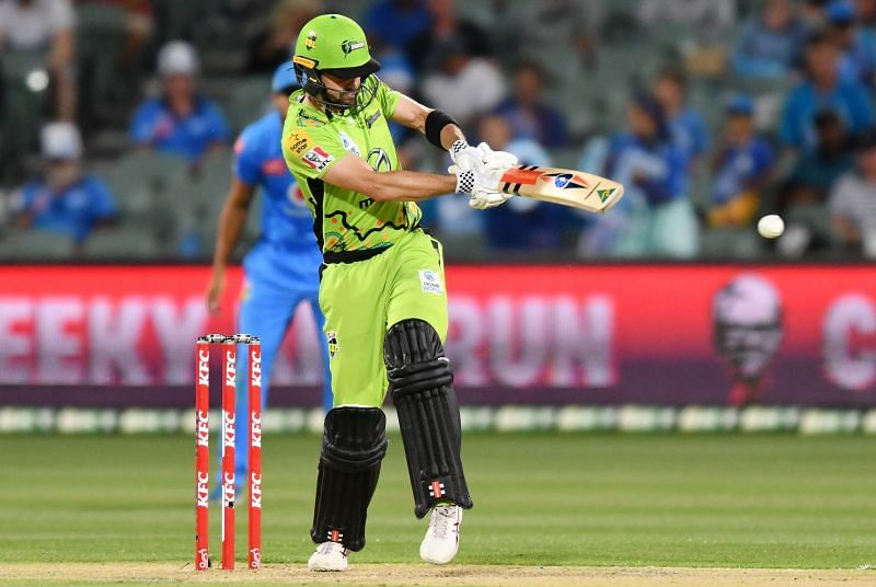 Action from the BBL game between Sydney Thunder and Adelaide Strikers