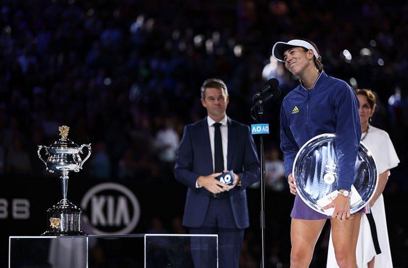 Garbine Muguruza at the 2020 Australian Open
