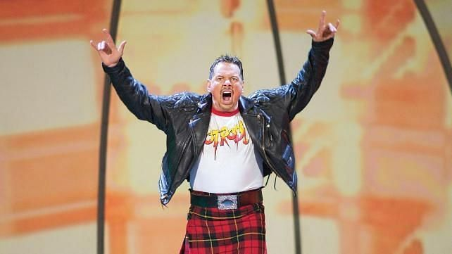 Roddy Piper received his WWE Hall of Fame induction in 2005