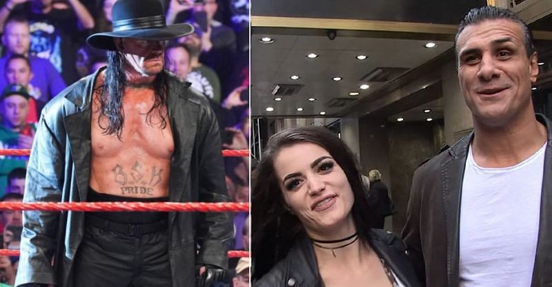 The Undertaker, Paige, and Alberto Del Rio