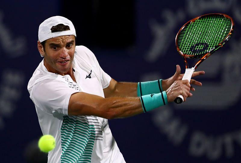 Malek Jaziri at Dubai Duty Free Tennis 2020