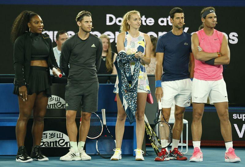 Serena Williams, Dominic Thiem, Rafael Nadal and Novak Djokovic are all quarantining in Adelaide