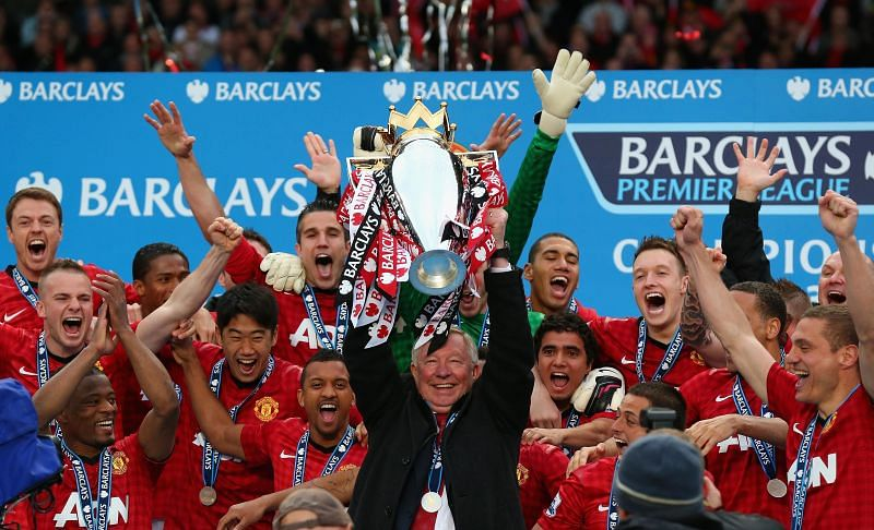 Manchester United last won the Premier League in the 2012-13 season in Sir Alex