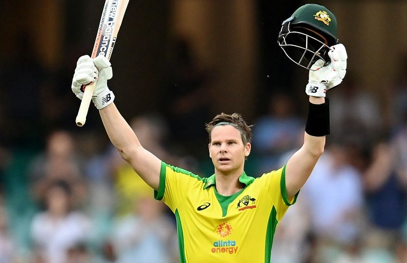 Steve Smith became the third-fastest Australian to score an ODI hundred.