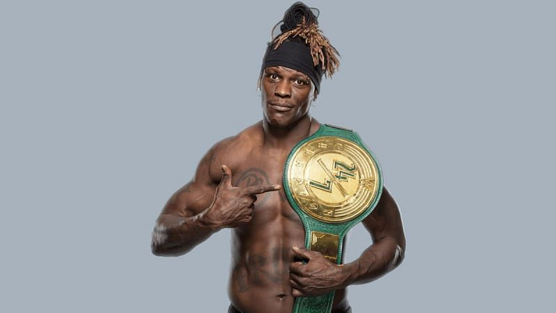 R-Truth with the WWE 24/7 Championship
