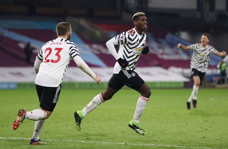 Paul Pogba scored the only goal of the game against Burnley.