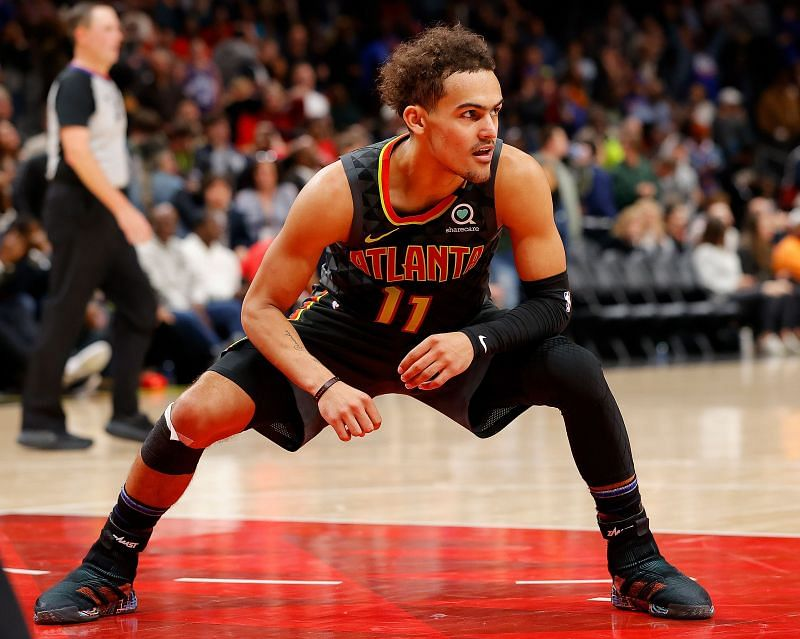 Trae Young (#11) has been impressive for the Atlanta Hawks this season.
