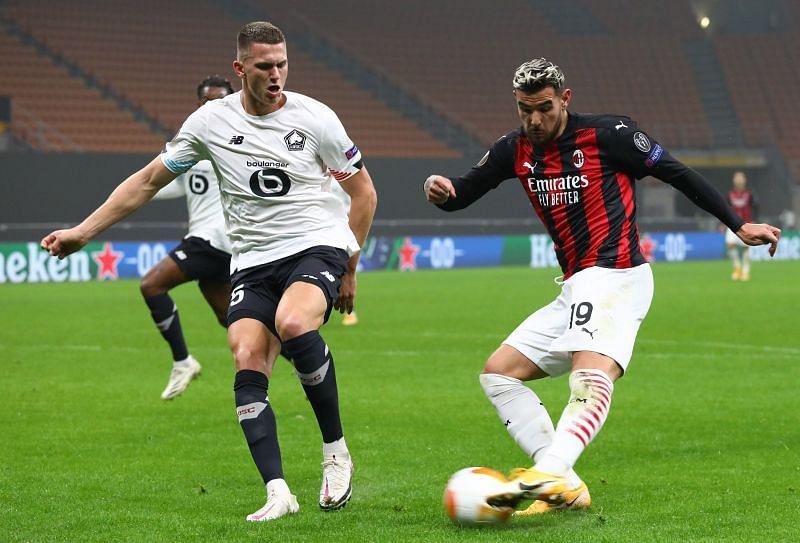 Sven Botman (L) in action for Lille