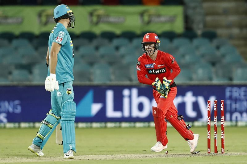 Action from the BBL game between Brisbane Heat & Melbourne Renegades