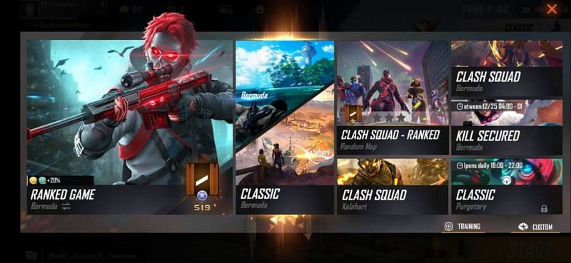 Free Fire gameplay modes